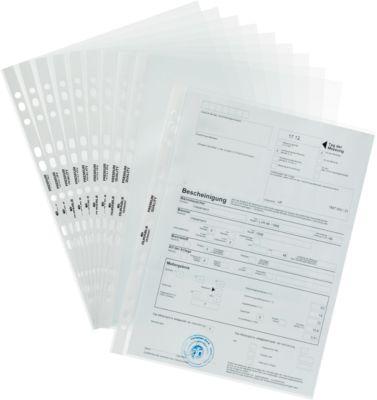DURABLE Prospekthüllen Premium, DIN A4, oben offen, 100 Stück, glatt, glasklar