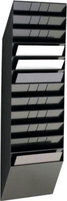 DURABLE Prospektspender Flexiboxx 12, 12 Spender, A4, quer, schwarz
