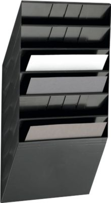 DURABLE Prospektspender Flexiboxx 6, 6 Spender, A4, quer, schwarz