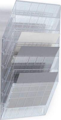 DURABLE Prospektspender Flexiboxx 6, 6 Spender, A4, quer, transparent