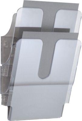 DURABLE Prospektspender Flexiplus 2, 2 Spender, A4, hoch, transparent