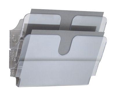 DURABLE Prospektspender Flexiplus, 2 Spender, A4, quer, transparent