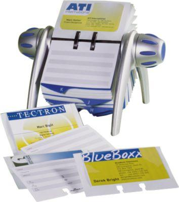 DURABLE Rollkartei Visifix-Flip, für 200 Karten, alufarbig