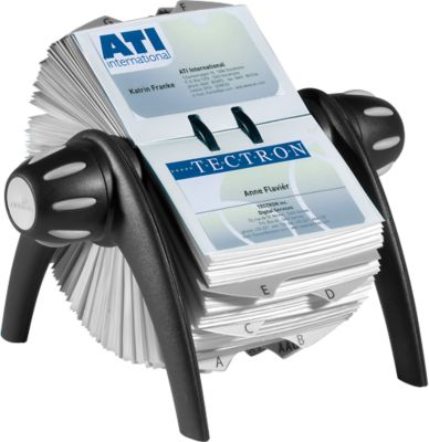 DURABLE Rollkartei Visifix-Flip, für 200 Karten, schwarz