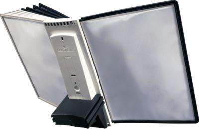 Durable Sherpa® Table uitbreidingselement met 10 zichtpanelen grijs/zwart