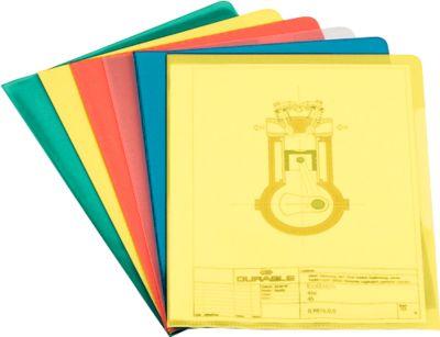 DURABLE Sichthülle, DIN A4, 100 Stück, farbig sortiert