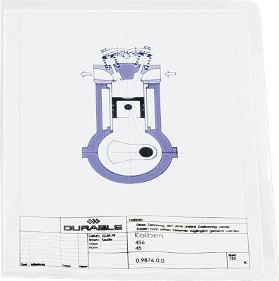 DURABLE Sichthülle PP, DIN A4, glasklar, 100 Stück