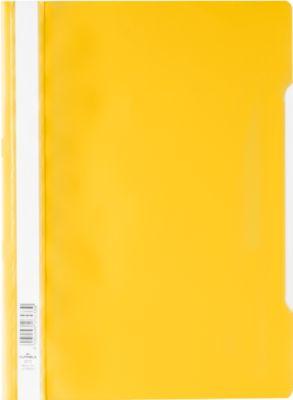 Durable snelhechtmappen, geel, pak van 50 stuks