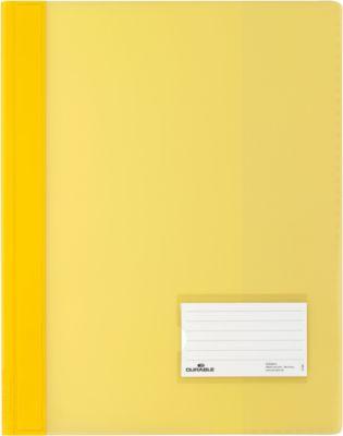DURABLE Snelhechtmappen PREMIUM, semi transparant, 25 stuks, geel