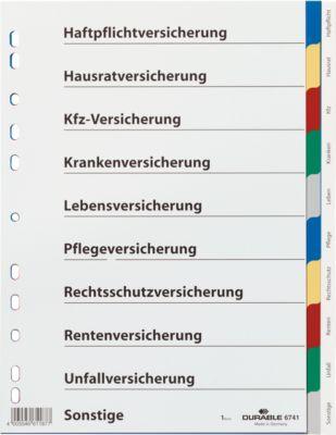 DURABLE tabbladen van PP, voor verzekeringen, A4,  stuk (annotaties in het Duits)