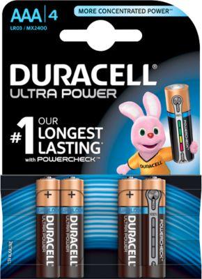DURACELL® batterij Ultra Power, Micro AAA, 1,5 V, 4 stuks