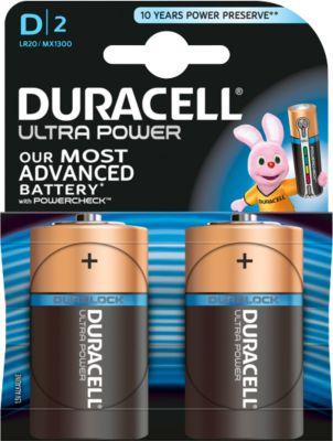 DURACELL® batterij Ultra Power, Mono D, 1,5 V, 2 stuks