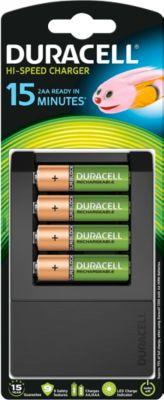 DURACELL®  batterijlader Hi-Speed Advanced, 15 min, voor AA, 1300 mAh en AAA batterijen, 750 mAh