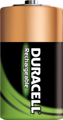DURACELL® oplaadbare batterijen, Mono D, 1,2 V, 2200 mAh, pak van 2 stuks