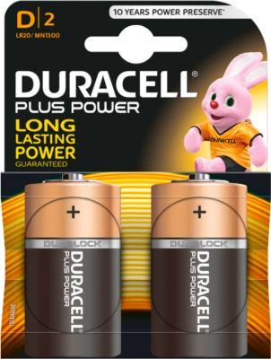 DURACELL Plus batterij, mono D, 1.5 V, pak van 2 stuks