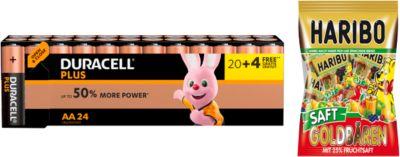 DURACELL® Plus Power Mignon/AA Batterijen 20 + 4 gratis