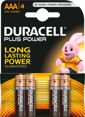 DURACELL Plus Power mignon-batterijen, AAA, 4 stuks