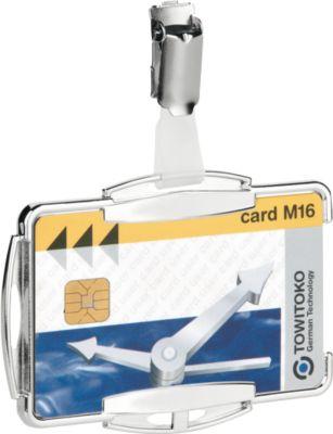 Duurzame kaarthouder RFID Secure Mono, voor 1 kaart, met klemsluiting, 10 stuks, voor 1 kaart, met klemsluiting