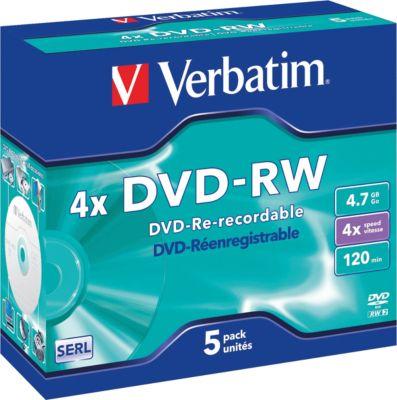 DVD-RW, 4,7 GB, 5 JewelCases