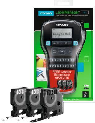 DYMO® Beschriftungsgerät LabelManager 160 + 3 D1-Schriftbandkassetten