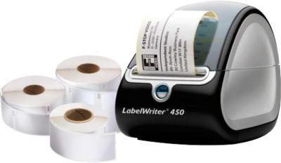 DYMO® Etikettendrucker LabelWriter 450 + 3 Etikettenrollen