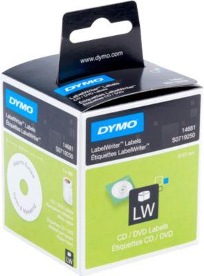 DYMO LabelWriter, CD-/DVD-Etiketten, permanent, ø 57 mm, 160 Stück