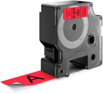 DYMO® Schriftbandkassette 53717, 24 mm, rot/schwarz