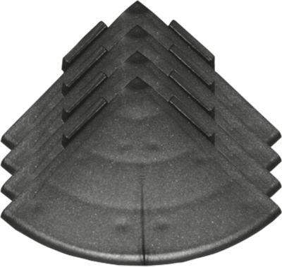 Ecken für Bodenrost Yoga Rost®, schwarz, 4 Stück