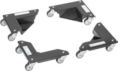 Eckenroller Fetra, 4 Elemente, Traglast jeweils 150 kg, mit Lenkrollen & Koffer, anthrazitgrau