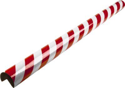 Eckschutzprofile Typ A+, 1-m-Stück, rot/weiß reflective