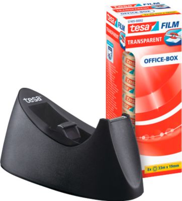 Economy set tafeldispenser tesa Easy Cut® CURVE + 8 rollen tesafilm®, geschikt voor rollen tot B 19 mm