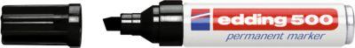 edding 500, m. Keilspitze 2-7 mm, schwarz, 1 Stück