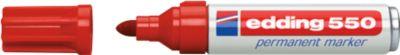 edding 550 Permanent Marker, Rundspitze 3-4 mm, rot, 1 Stück