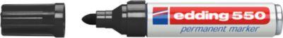 edding 550 Permanent Marker, Rundspitze 3-4 mm, schwarz, 1 Stück