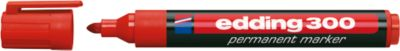 EDDING Permanent Marker 300, mit Rundspitze, 1 Stück, rot