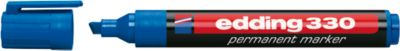 edding permanent marker e-330, blauw, 1 stuk