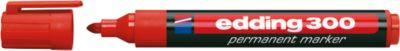 edding permanent markers e-300, rood, 10 stuks