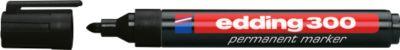 edding permanent markers e-300, zwart, 10 stuks