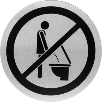 Edelstahl-Hinweisschild, Bitte setzen
