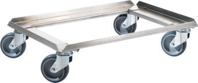 Edelstahl-Rollrahmen, 611 x 411 mm, Tragkraft 250 kg