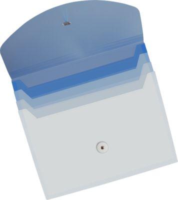 EICHNER Fächermappe, 4 Fächer, DIN A4-Format, mit Gummizugverschluss, blau