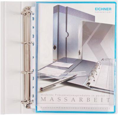 EICHNER Folderhoezen A4, met vouw tas, transparant, pak van  10 stuks