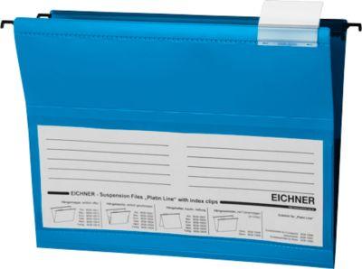 Eichner Hängetaschen, für Formate bis Din A4, PVC, 10 Stück, blau