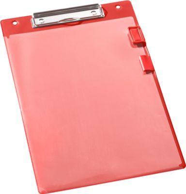 EICHNER Klemmbrett, DIN A4, Kunststoff, mit Klarsichttasche,  A4, rot