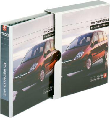 EICHNER Präsentations-Schuber+Ringbuch, A4, 4-Ring-Mechanik, Rückenbreite 40 mm
