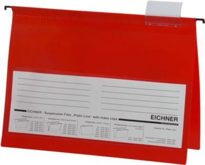 EICHNERT PVC Snelhechthangmappen, A4 formaat, 10 stuks, rood