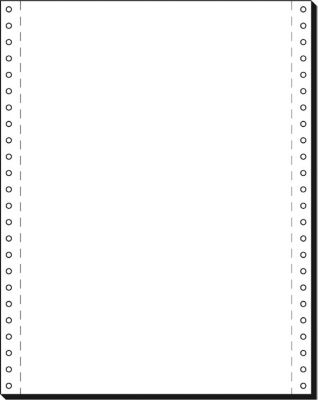Eindeloos kettingpapier, 1 vouw,12