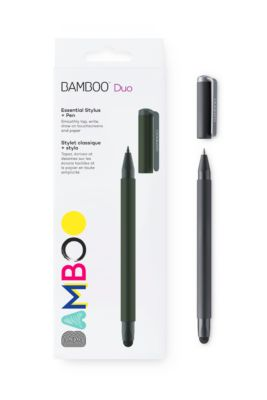 Eingabestift Wacom Bamboo Duo 2-in-1, für Tablets und Papier, Spitze 6 mm, schwarz