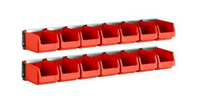 Einhängeleisten, 2 Stück, lange Ausführung, mit 14 Kästen LF 221