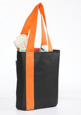 Einkaufstasche 2 COLOURS, 2 Vordertaschen, Bodenfalte, Werbedruck 1-farbig 150 x 200 mm, orange